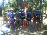 Family before boarding the canoe