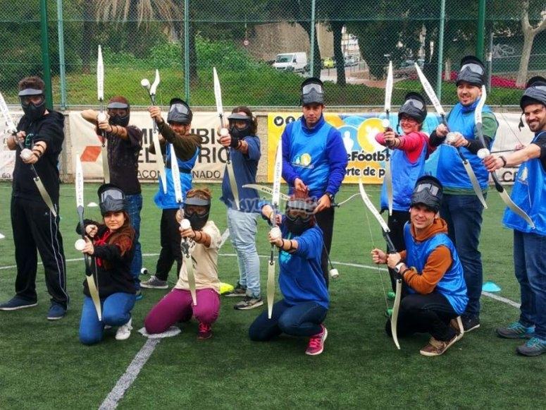Archery tag en Barcelona