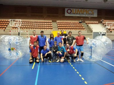 Bubble football + archery tag Barcelona, 2 hours