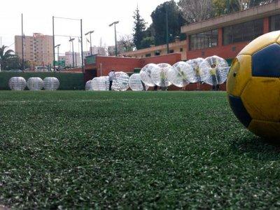 Partida de fútbol burbuja y archery tag Bcn 2horas