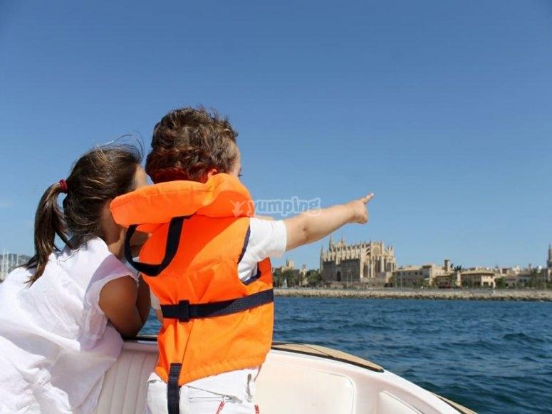 Peque navegando