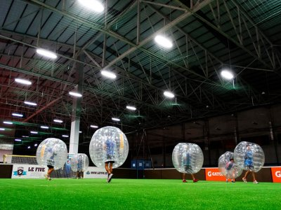 1-hour bubble football match in Barcelona