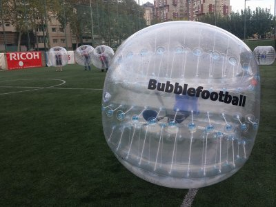 2-hour bubble football match in Barcelona