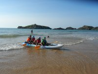 Canoa en alquiler para niños en Noja 1 hora