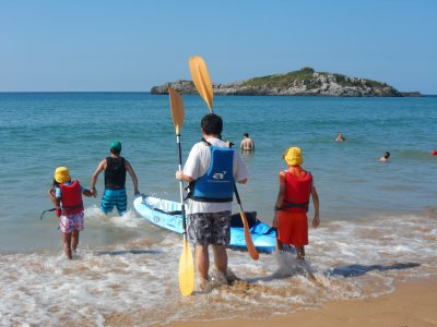 Rent a Kayak for a Child in Playa de Ris, 1 Hour