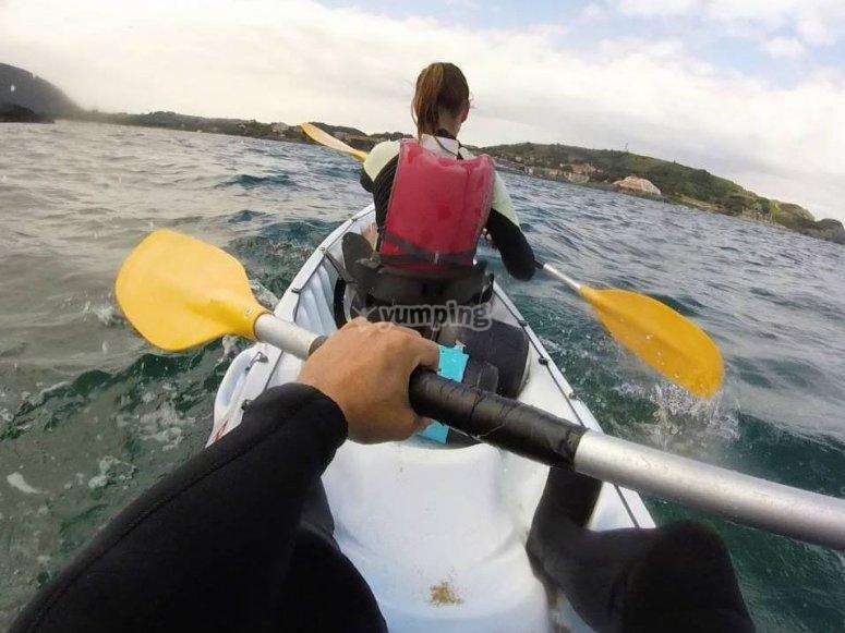 Recorrido en kayak biplaza