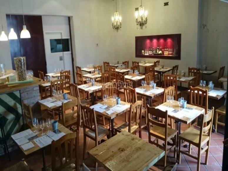 Las mesas del restaurante