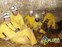 The group speleologists