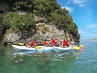 En familia con el kayak