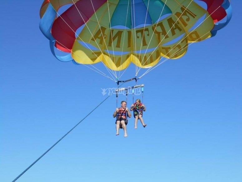 Go parasailing in Ibiza