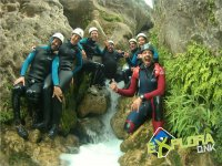 Doing canyoning in Cuenca