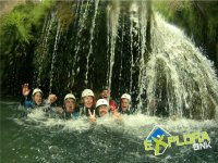Canyoning under the jets