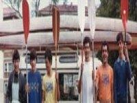 Prepared to sail in a kayak