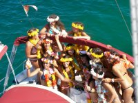 Bachelorette party on the boat