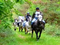 Horse riding in the mountains of Mañon