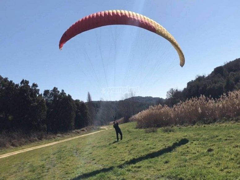 滑翔伞练习