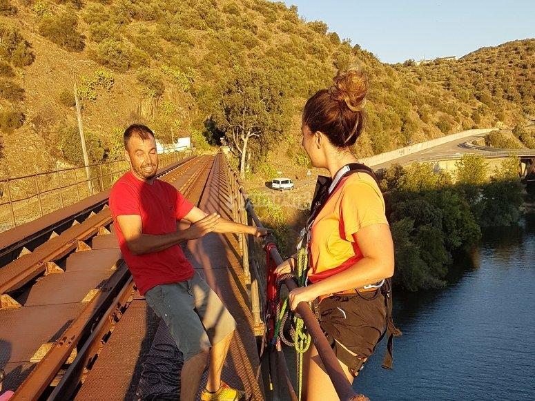 Instrucciones en el puente