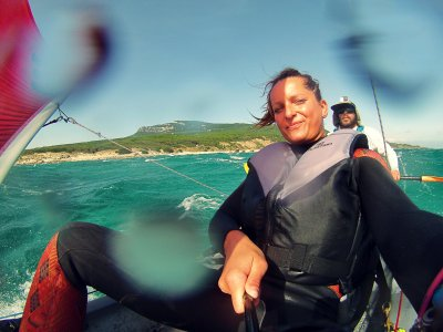 Ruta kayak biplaza 2 horas por Tarifa