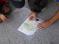 Juego de orientación con el mapa