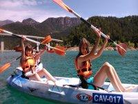 Excursion en kayak con el cole