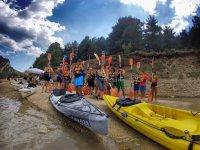 Antes de partir con los kayaks