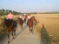 With the family on a horseback route