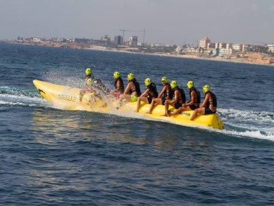Banana boat in Torrevieja, 15 minutes