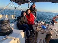 Aprendiendo a navegar en la costa gaditana