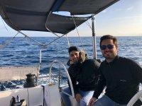 Disfrutando de la ruta en barco
