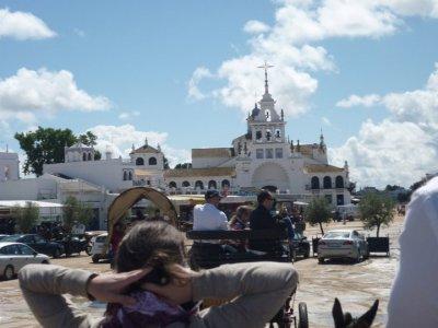 Ruta a caballo y cena romántica en El Rocío 2h
