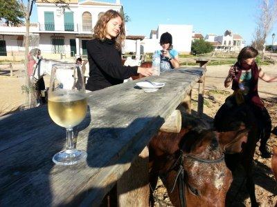 Ruta a caballo con rebujito en El Rocío 2 horas