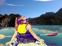 Sunbathing from the canoe