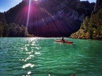Enjoying La Llosa del Cavall from the canoe