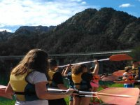School excursion with the canoes
