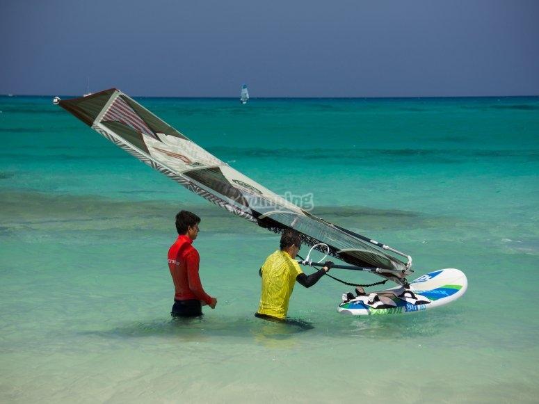 Preparazione della vela
