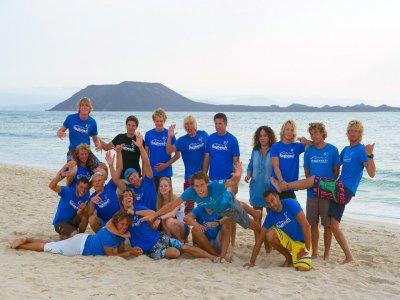 Pack curso iniciación windsurf en Corralejo 7 días