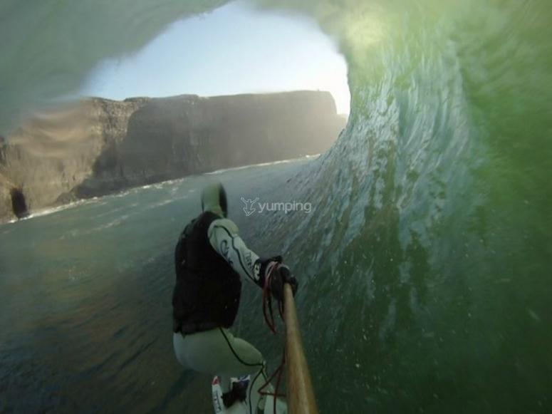 surf dentro del tunel