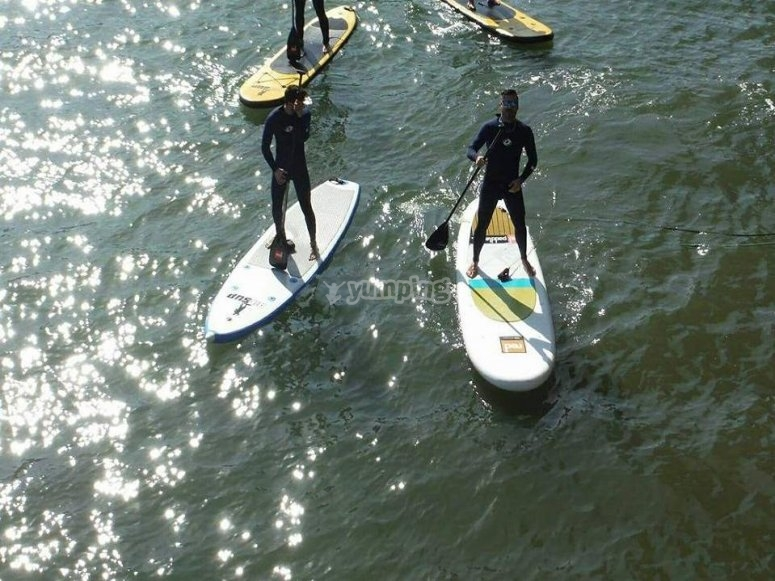 Paddle surfing A coruña