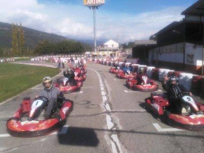 Driving a Superkart El Pla de Sant Tirs 3 series