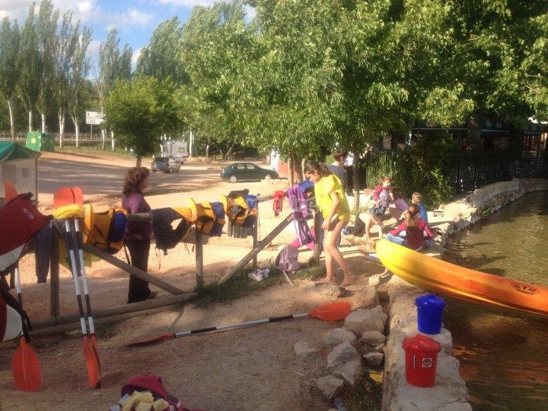 Alla fine del percorso in kayak
