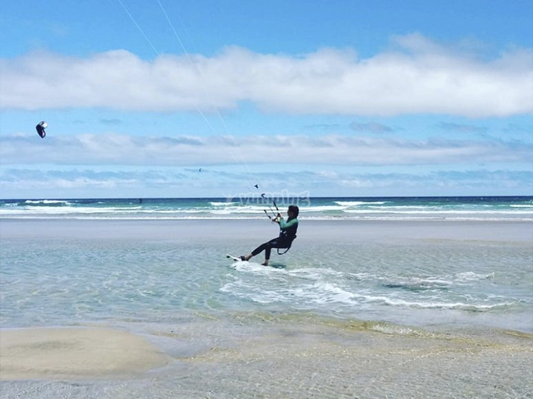 Día de kitesurf