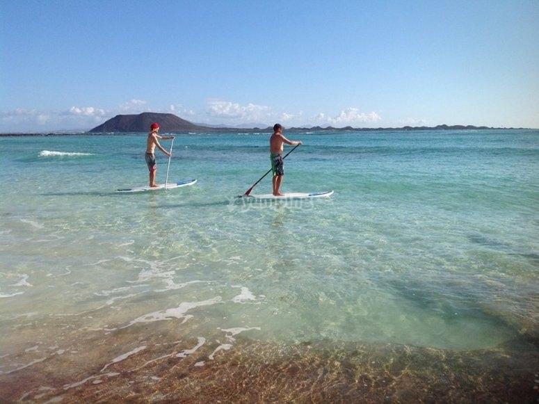 Paddle surf a Corralejo