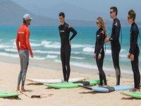 Preparare la lezione di surf