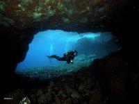 Cueva en el fondo marino de Tenerife