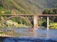 Vista delle canoe