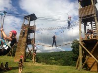 Multiadventure with suspension bridges and zip lines