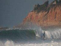Surfing near the beach