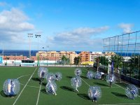 Pack bubble football y archery tag en Barcelona 2h
