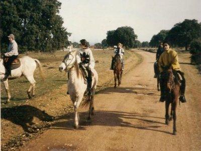 在萨拉曼卡附近的骑马路线,2h