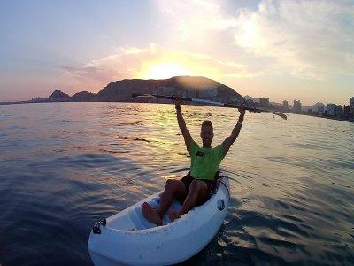 Kayak y snorkel al atardecer Playa de San Juan 2h